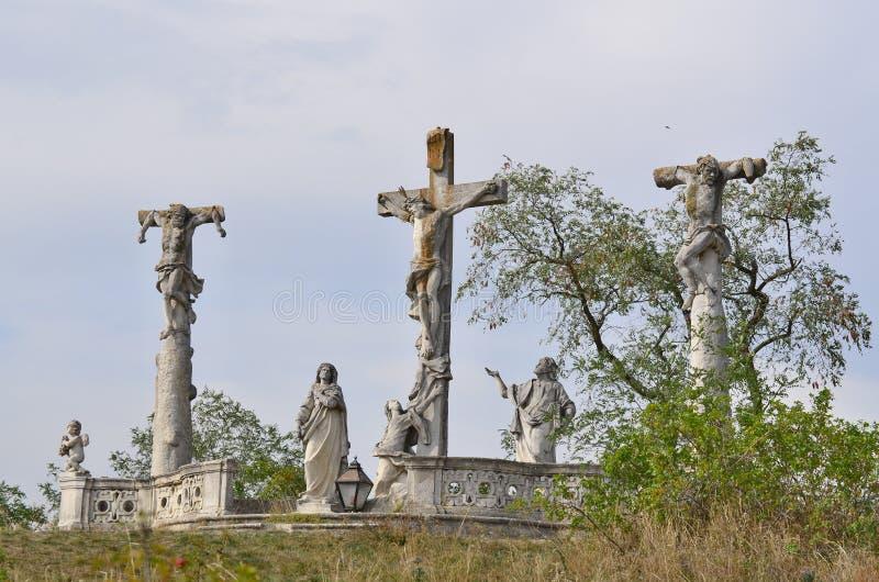 Calvary nära staden av Retz royaltyfria foton