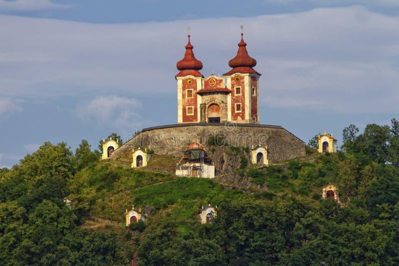 Calvary on Scharffenberg hill in Banska Stiavnica, Slovakia. Baroque Calvary on Scharffenberg hill in Banska Stiavnica, Slovakia stock photography