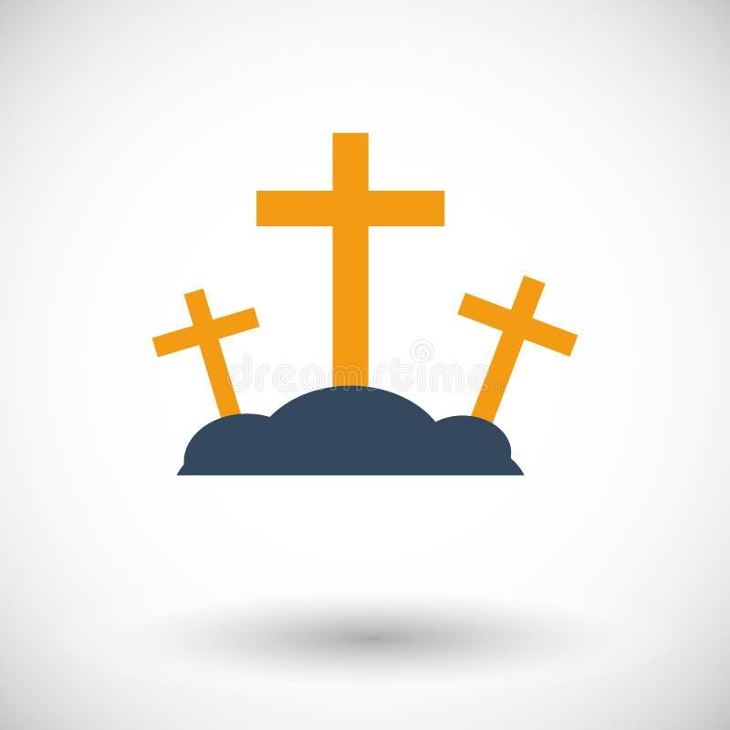 Calvary single icon. Calvary. Single flat icon on white background. Vector illustration stock illustration