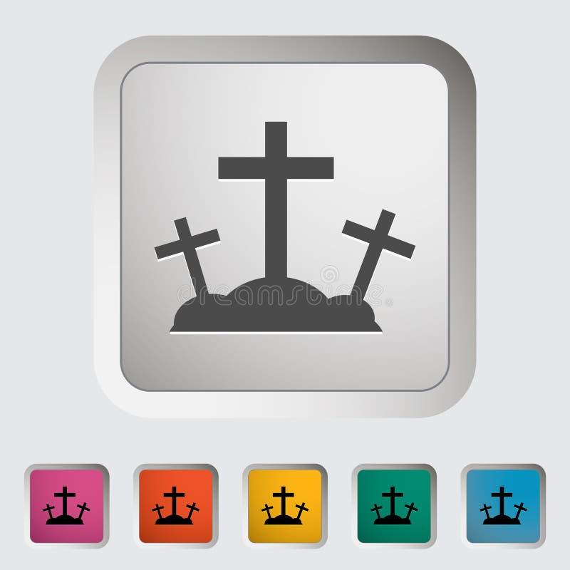 Calvary single icon. Vector illustration stock illustration
