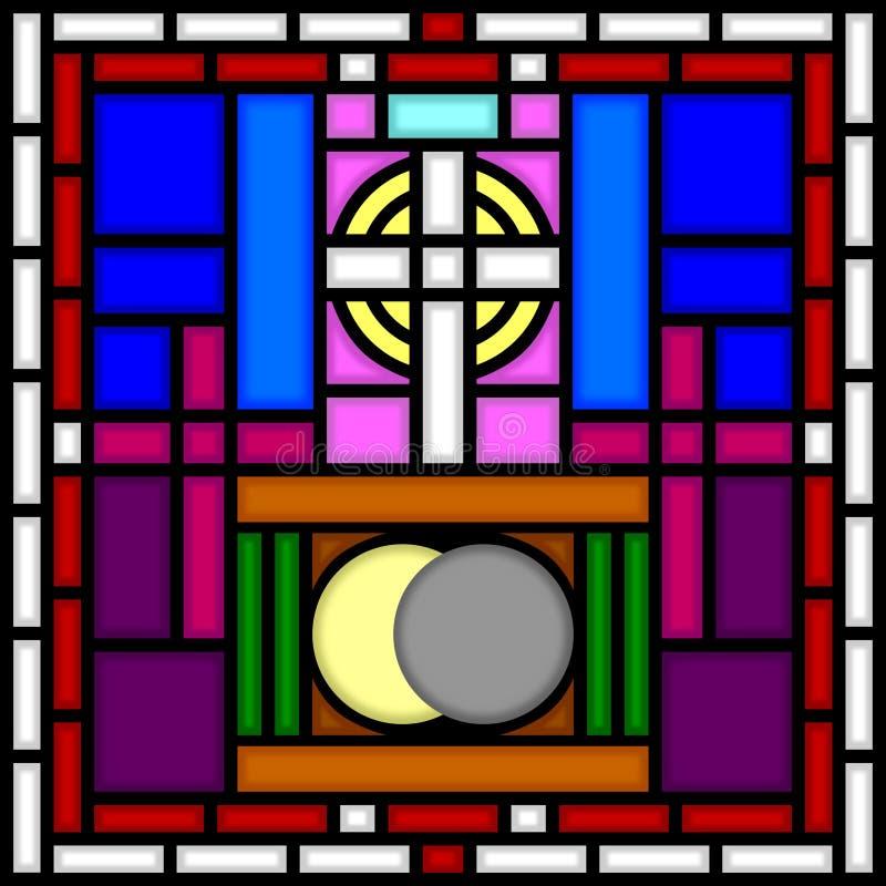 Calvary y sepulcro santo [SG] stock de ilustración
