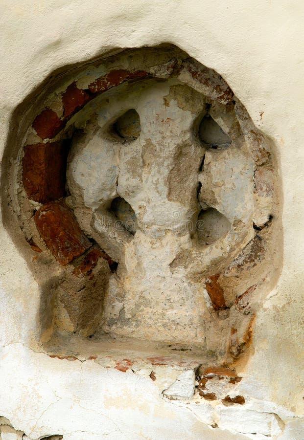 Calvarykorsen veliky novgorod för antagandeauktionkyrka royaltyfria bilder