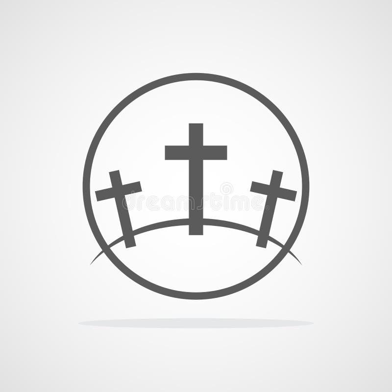 Calvarysymbol också vektor för coreldrawillustration stock illustrationer