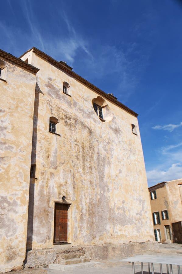 Calvi, цитадель, собор, древние стены, горизонт, Корсика, Corse, Франция, Европа, остров стоковые изображения
