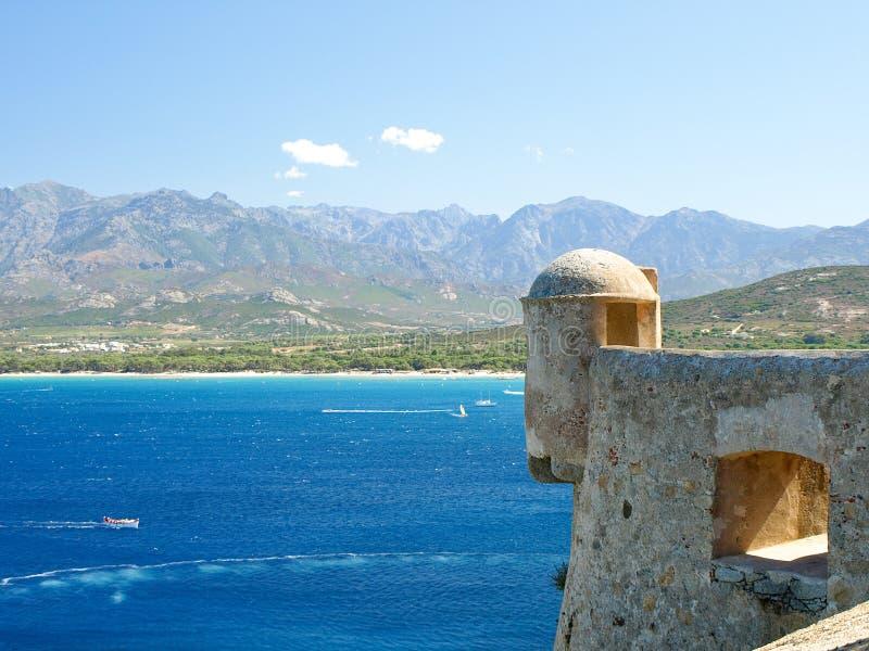 Calvi Citadel, Corsica, France. View on the sea from the citadel of Calvi, Corsica, France royalty free stock photography