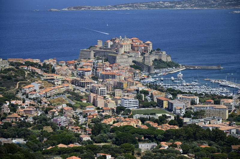 Calvi Korsika lizenzfreie stockbilder
