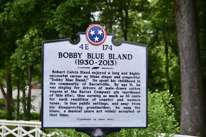 Bobby Blue Bland Blues Singer. Calvin Bland known professionally as Bobby `Blue` Bland, was an American blues singer. Bland developed a sound that mixed gospel royalty free stock photo