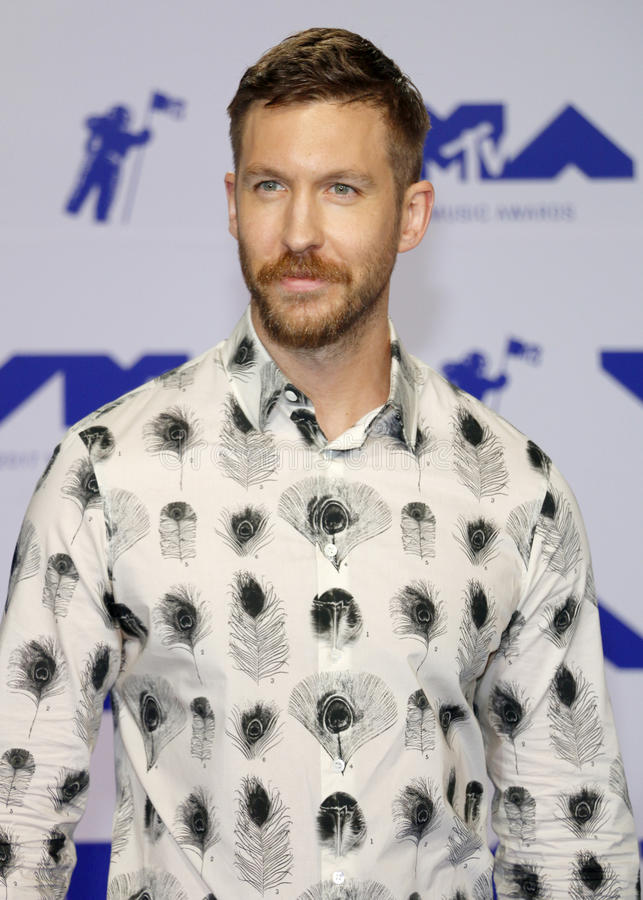 Calvin Harris. At the 2017 MTV Video Music Awards held at the Forum in Inglewood, USA on August 27, 2017 royalty free stock photography
