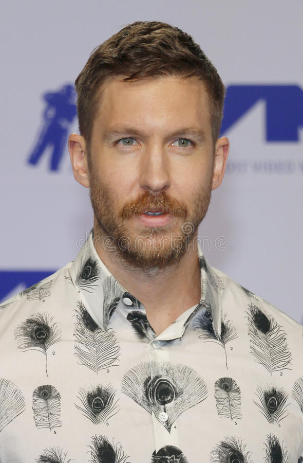 Calvin Harris. At the 2017 MTV Video Music Awards held at the Forum in Inglewood, USA on August 27, 2017 royalty free stock photos
