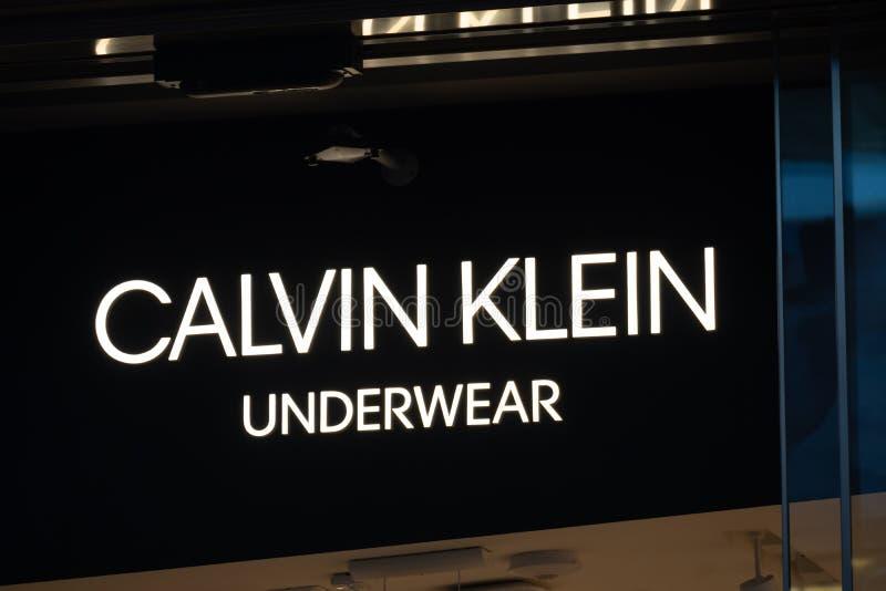 Calvin Klein underkläderlager fotografering för bildbyråer