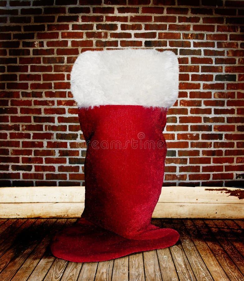 Calza della Santa di natale fotografie stock