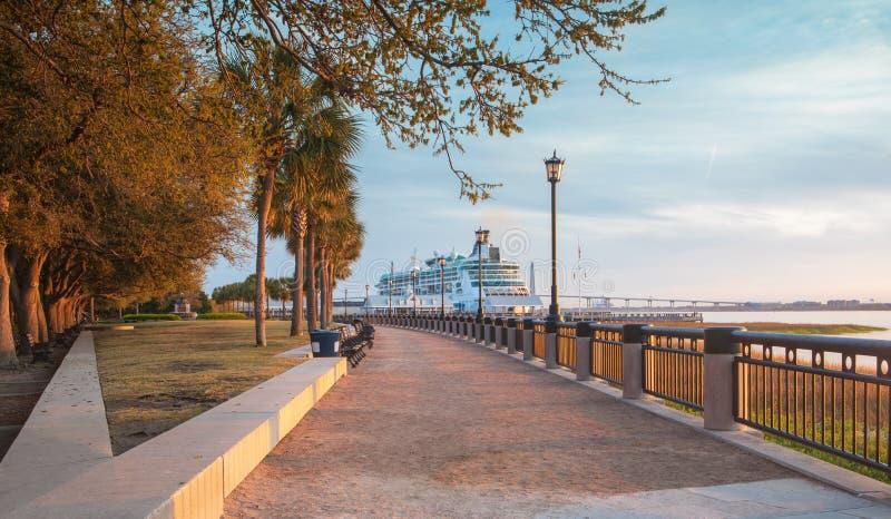 Calzada Charleston South Carolina Waterfront fotografía de archivo libre de regalías