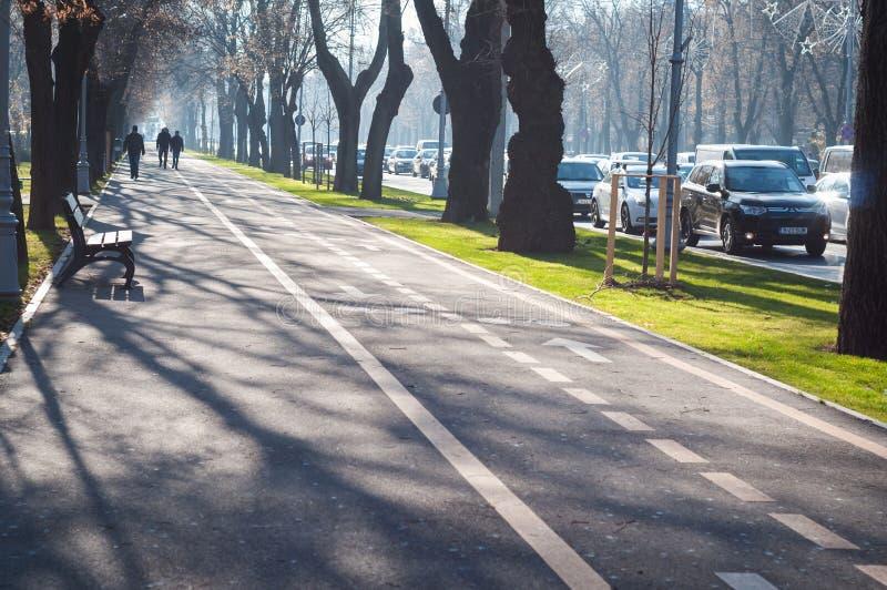 Calzada de Bucarest imagen de archivo