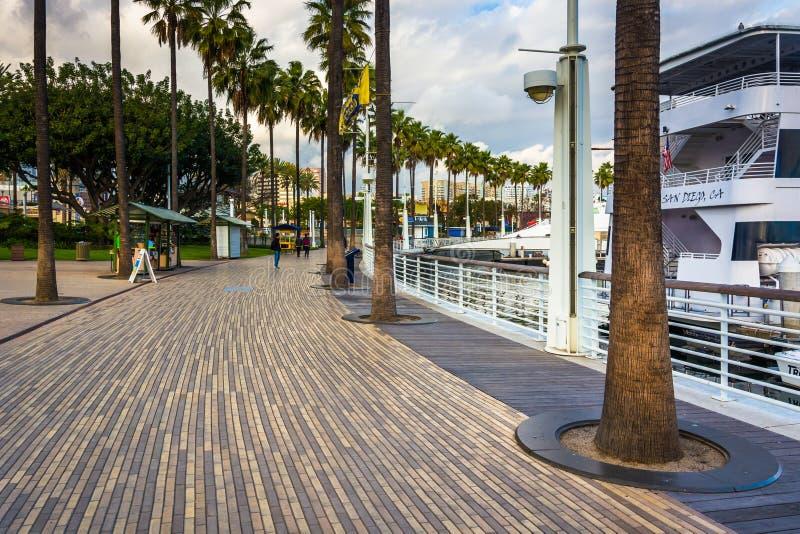 Calzada de la costa en Long Beach fotos de archivo