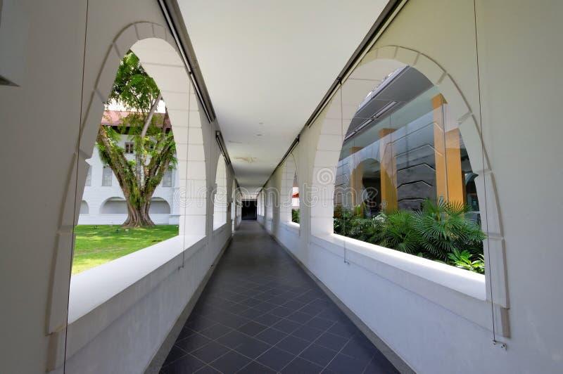 Calzada en la universidad nacional de Singapur foto de archivo libre de regalías