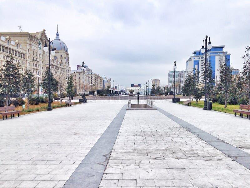 Calzada pública Baku imágenes de archivo libres de regalías
