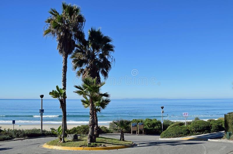 Calzada para salar el parque de la playa de la cala en Dana Point, California imagen de archivo libre de regalías