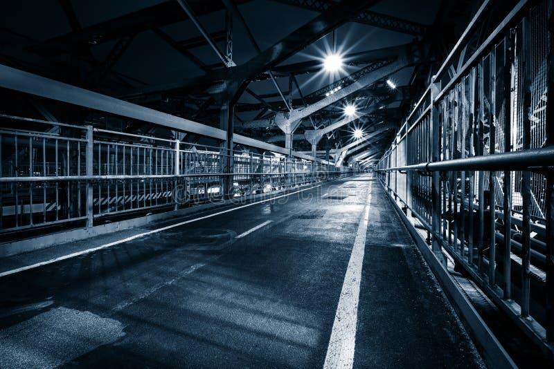 Calzada peatonal del puente de Williamsburg fotografía de archivo