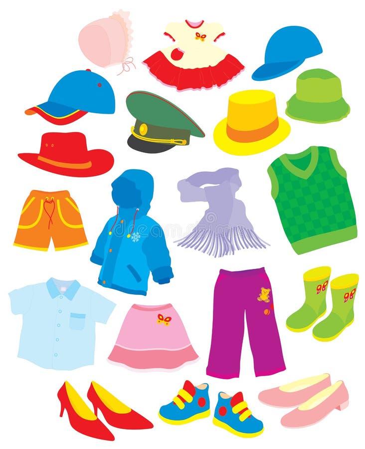 Calzado y ropa stock de ilustración