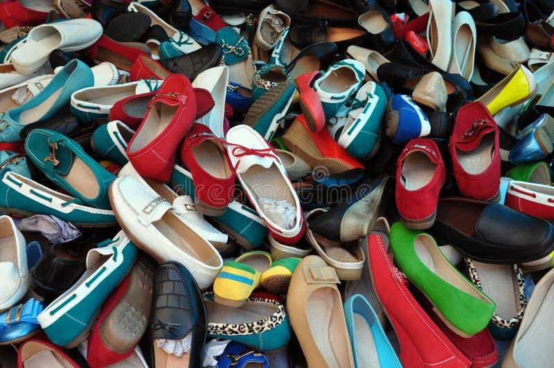 Calzature assortite delle scarpe immagine stock libera da diritti