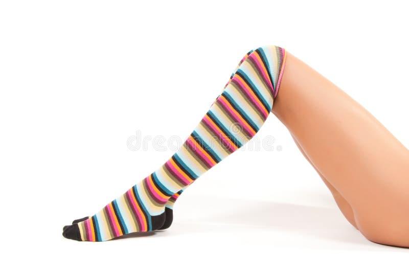 Calze multicolori fotografia stock libera da diritti