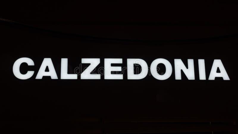 CALZEDONIA被阐明的略写法  免版税图库摄影