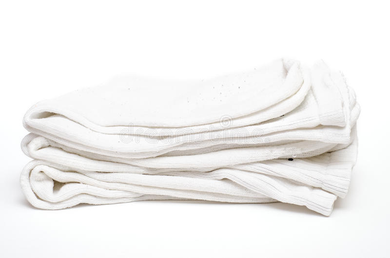 Calzini bianchi del cotone di Amalgamted immagini stock