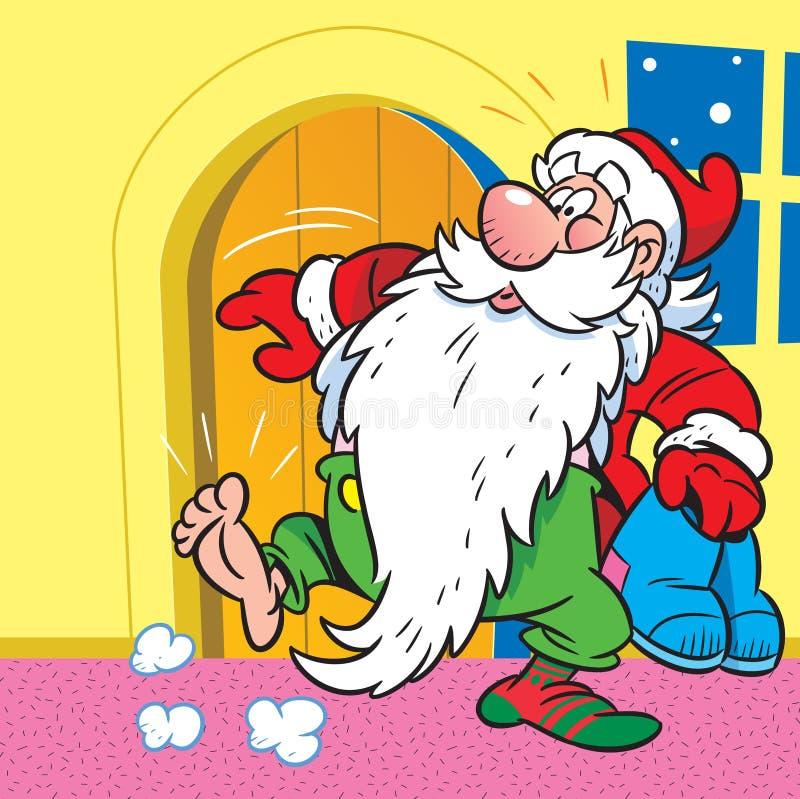 Calzini per il Babbo Natale illustrazione vettoriale