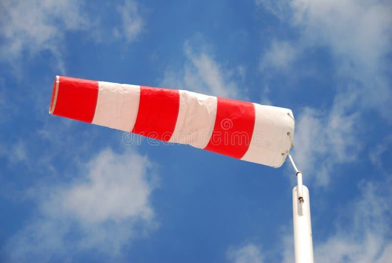 Calzino di vento a strisce immagine stock libera da diritti