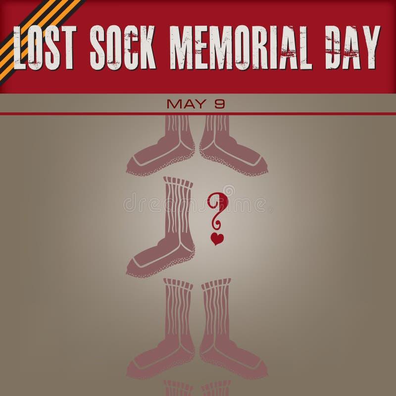 Calzino perso Memorial Day illustrazione di stock