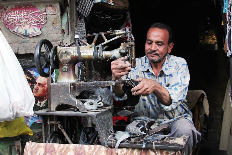 Calzolaio egiziano arabo immagine stock