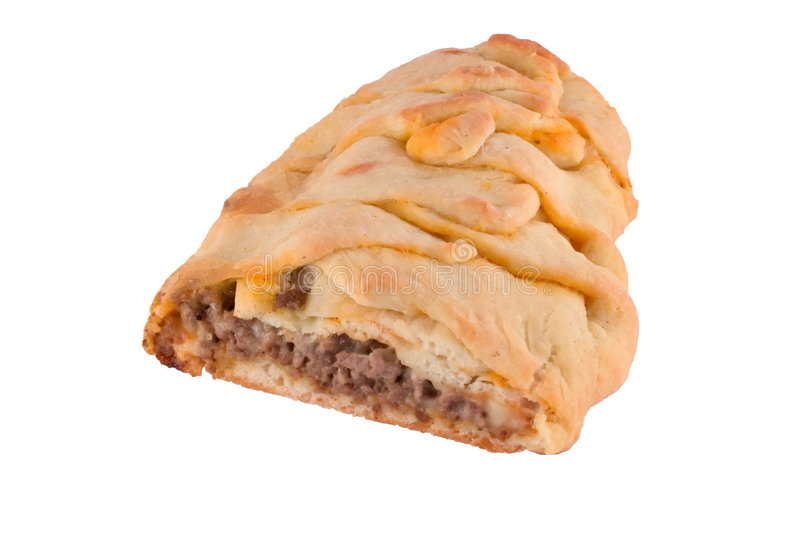 Calzone. Isolated image of calzone loaf stock images