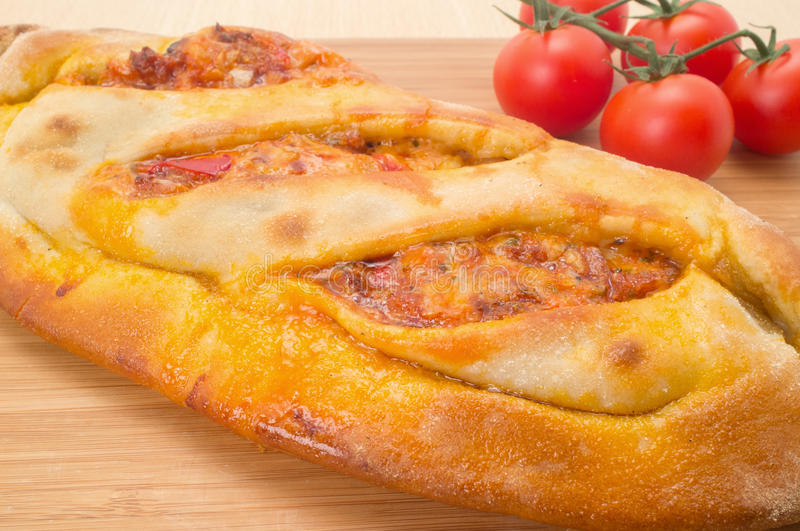 Calzone pizza royalty free stock images