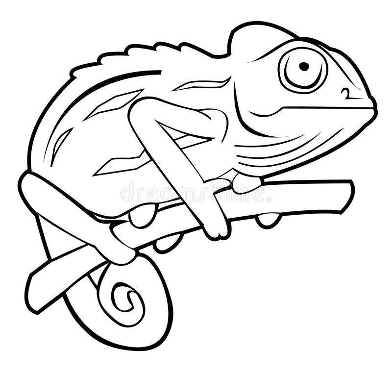 Caméléon illustration stock