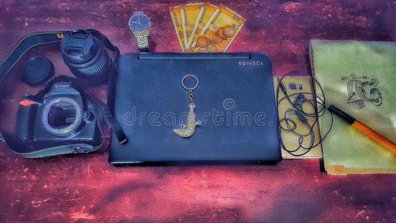 Caméra électronique de téléphone d'art photo stock