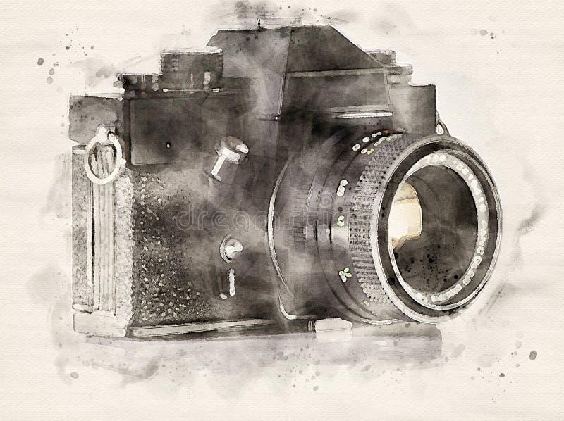 Caméra analogique aquarelle illustration libre de droits