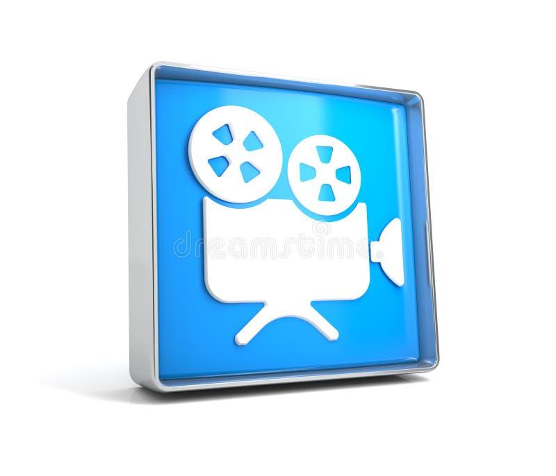Caméra - bouton de Web d'isolement sur le fond blanc illustration de vecteur