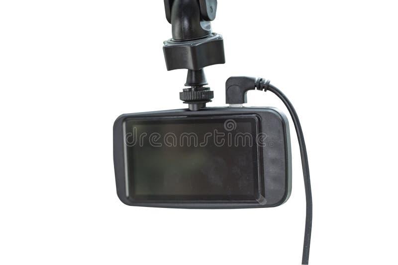 Caméra d'isolement dans la voiture sur un fond blanc avec le chemin de coupure photos stock