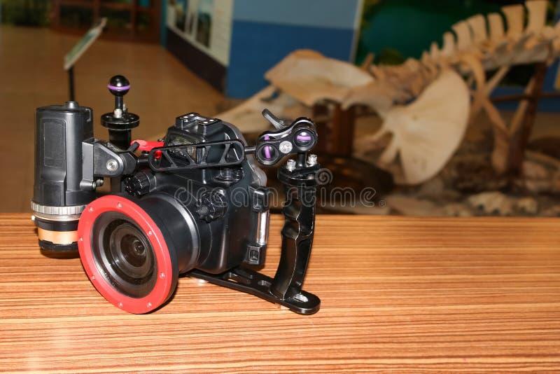 Caméra dans les outils sous-marins de logements pour la recherche marine photo stock