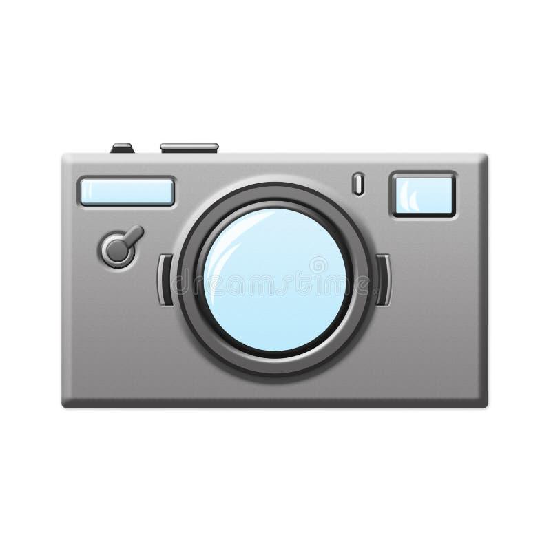Caméra de photo d'isolement sur l'illustration blanche de fond photos stock