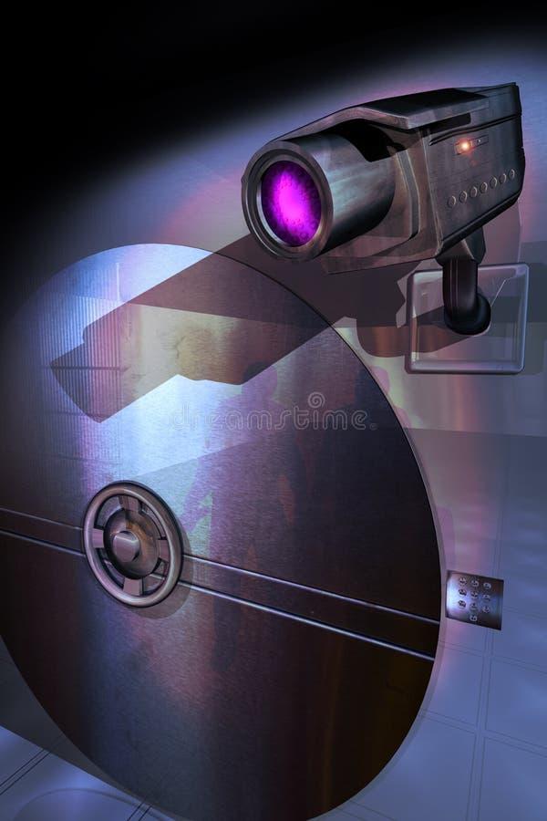 Caméra de sécurité illustration libre de droits