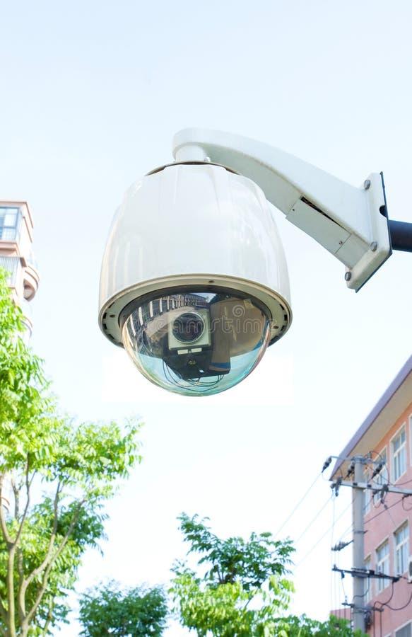 Caméra de sécurité (chemin de découpage) photographie stock