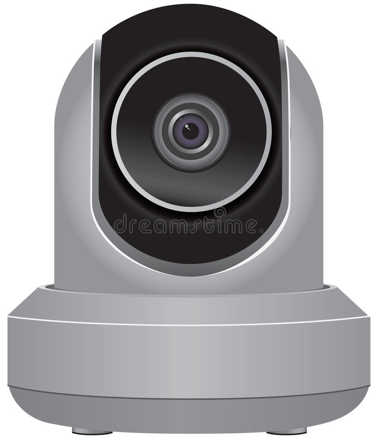 Caméra de sécurité d'IP illustration libre de droits
