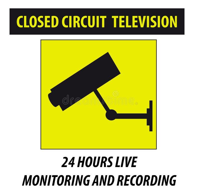 Caméra de sécurité dans l'action illustration stock