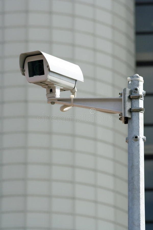 Caméra de sécurité de télévision en circuit fermé. photo libre de droits