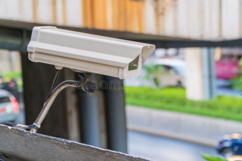 Caméra de sécurité de télévision en circuit fermé, télévision en circuit fermé en le public photographie stock