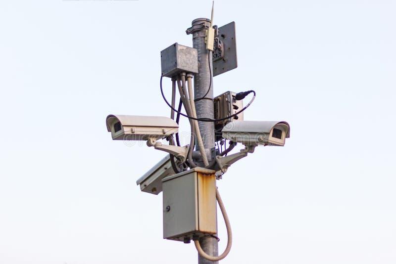 Caméra de sécurité de télévision en circuit fermé, télévision en circuit fermé photo stock