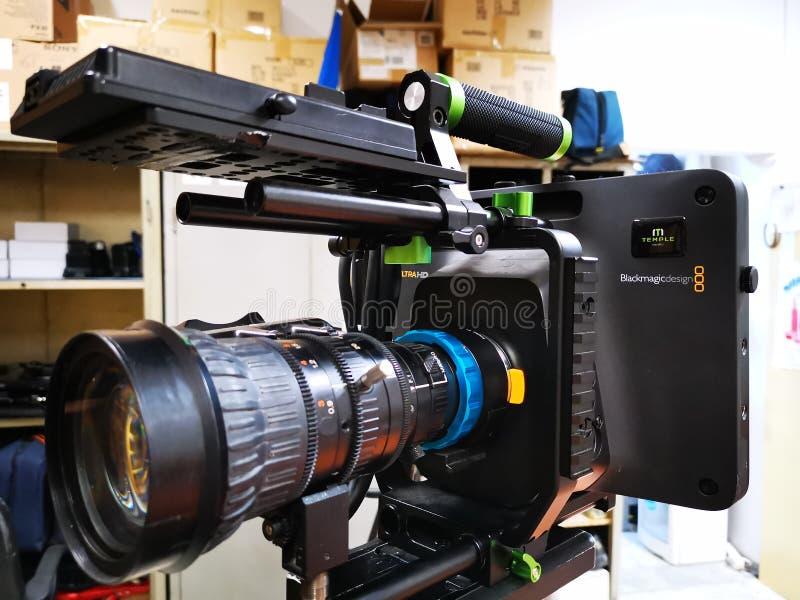 Caméra de studio de Blackmagic - le plus grand viseur photos libres de droits