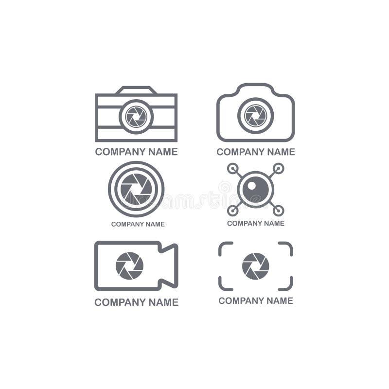 Caméra de symbole de logo moderne illustration stock