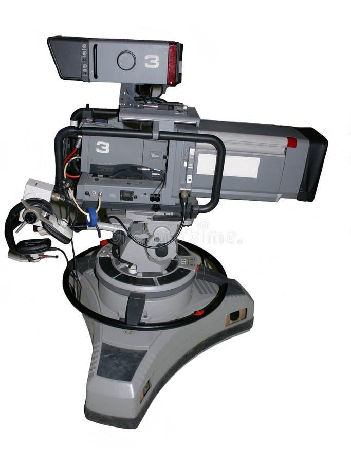 Caméra de télévision de studio sur le pupitre photographie stock libre de droits